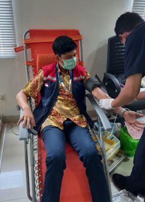 PT. Hutama Karya (Persero) Divisi OPJT Cabang Pekanbaru - Dumai Gelar Donor Darah